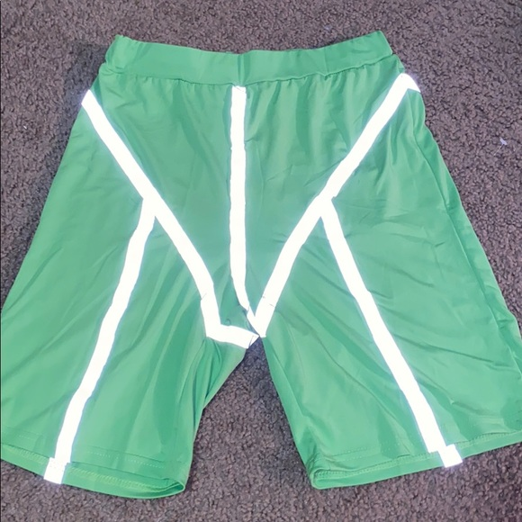 Reflective bike shorts